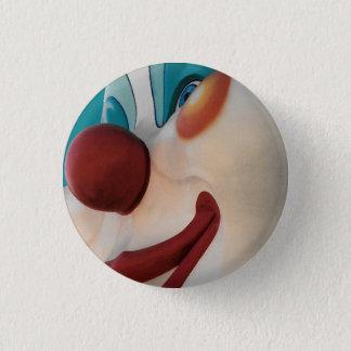 Badge Rond 2,50 Cm Bouton de sourire effrayant de clown de cirque