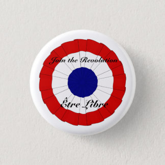 Badge Rond 2,50 Cm Bouton d'Être Libre petit