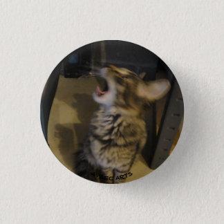 Badge Rond 2,50 Cm Bouton d'hurlement de chaton