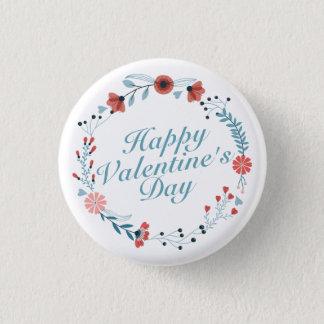 Badge Rond 2,50 Cm Bouton floral de guirlande de heureuse