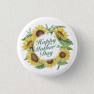 Badge Rond 2,50 Cm Bouton floral heureux de cadre du jour de mère de