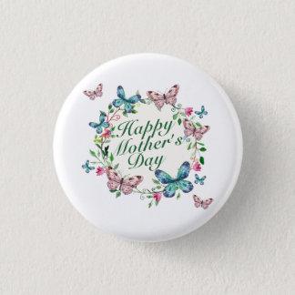 Badge Rond 2,50 Cm Bouton floral heureux élégant de guirlande du jour