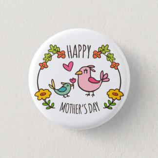 Badge Rond 2,50 Cm Bouton heureux adorable de Pin du jour de mère