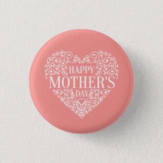Badge Rond 2,50 Cm Bouton heureux lunatique de Pin du jour de mère