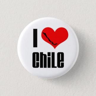 Badge Rond 2,50 Cm Bouton II du Chili du coeur I