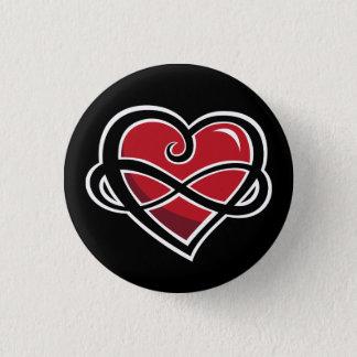 Badge Rond 2,50 Cm Bouton infini d'amour
