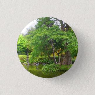 Badge Rond 2,50 Cm Bouton japonais de l'étang #4 de jardin de thé de