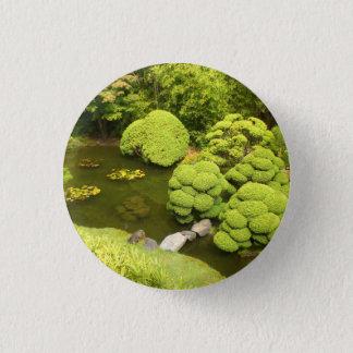 Badge Rond 2,50 Cm Bouton japonais de l'étang #6 de jardin de thé de