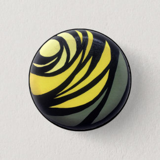 Badge Rond 2,50 Cm Bouton jaune de Chakra