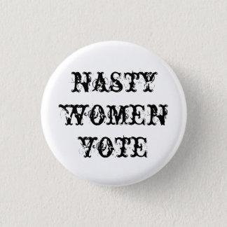 Badge Rond 2,50 Cm bouton méchant de vote de femmes