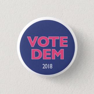Badge Rond 2,50 Cm Bouton rose de DEM de vote