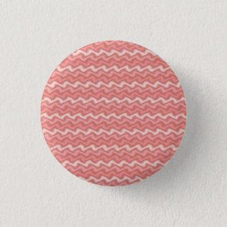 Badge Rond 2,50 Cm Bouton rose ondulé
