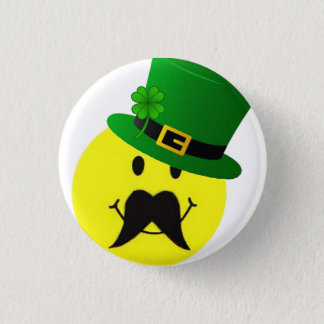 Badge Rond 2,50 Cm Bouton souriant de moustache de lutin
