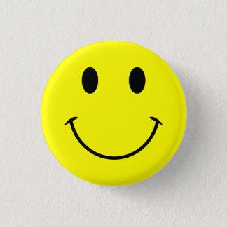 Badge Rond 2,50 Cm Bouton souriant de visage