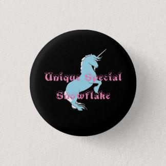 Badge Rond 2,50 Cm Bouton spécial unique de licorne de flocon de