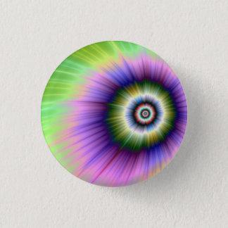 Badge Rond 2,50 Cm Bouton teint noué d'explosion de couleur