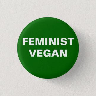 Badge Rond 2,50 Cm Bouton végétalien féministe
