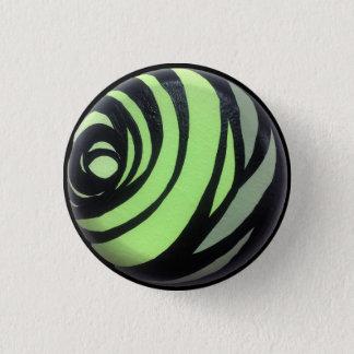 Badge Rond 2,50 Cm Bouton vert de Chakra