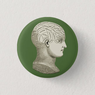 Badge Rond 2,50 Cm Bouton vintage de phrénologie