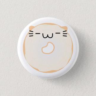Badge Rond 2,50 Cm Bouton vitré de beignet de chat