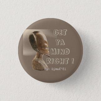 Badge Rond 2,50 Cm Brown obtiennent à esprit de Ya le bouton droit