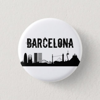 Badge Rond 2,50 Cm Button Barcelone/Plaque Barcelone