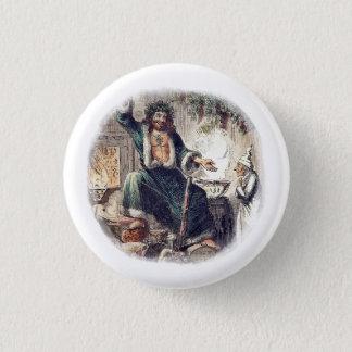 Badge Rond 2,50 Cm Cadeau de Noël de fantôme avec le grippe-sou