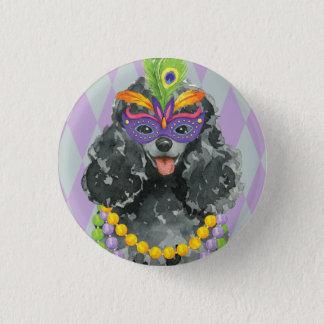 Badge Rond 2,50 Cm Caniche de jouet de mardi gras
