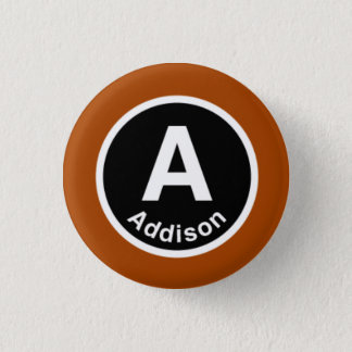 Badge Rond 2,50 Cm Chicago L ligne d'Addison Brown