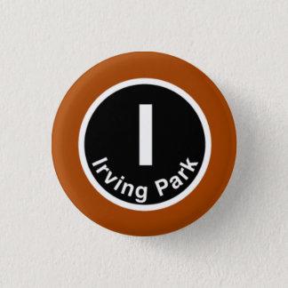 Badge Rond 2,50 Cm Chicago L ligne d'Irving Park Brown
