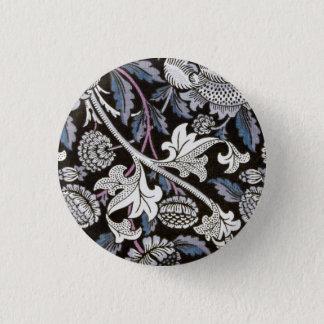 Badge Rond 2,50 Cm Conception noire et blanche de tissu de William