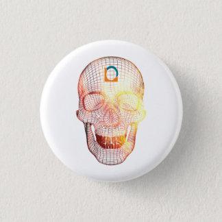 Badge Rond 2,50 Cm Crâne 3d coloré