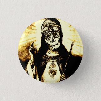 Badge Rond 2,50 Cm Crâne de Dieu de route