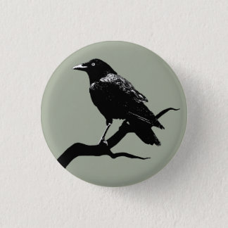Badge Rond 2,50 Cm Crow