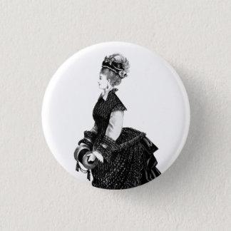 Badge Rond 2,50 Cm Dame victorienne avec l'insigne de mouvement
