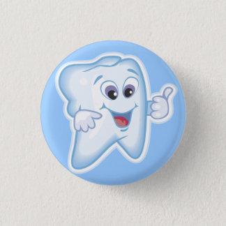 Badge Rond 2,50 Cm Dents heureuses saines