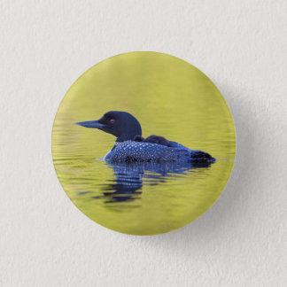 Badge Rond 2,50 Cm Dingue commun sur l'eau verte