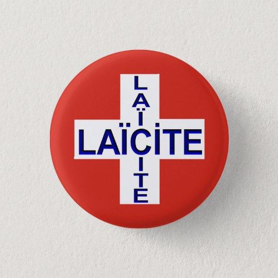 Badge Rond 2,50 Cm drapeau suisse laïcité