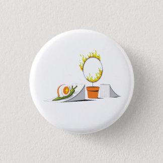 Badge Rond 2,50 Cm Escargot contre le cercle de feu