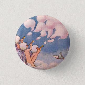 Badge Rond 2,50 Cm Féeries de nuage faisant des nuages