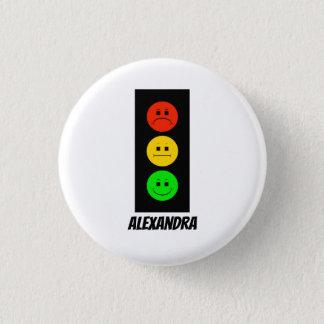 Badge Rond 2,50 Cm Feu d'arrêt déprimé personnalisable avec le nom