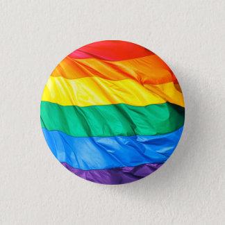 Badge Rond 2,50 Cm Fierté solide - plan rapproché de drapeau de gay