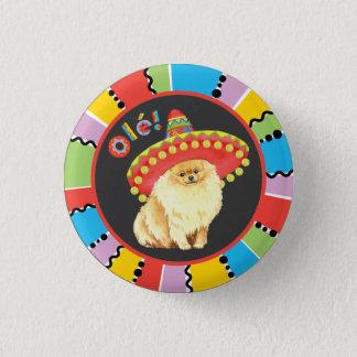 Badge Rond 2,50 Cm Fiesta Pomeranian