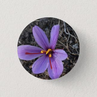 Badge Rond 2,50 Cm Floraison de safran