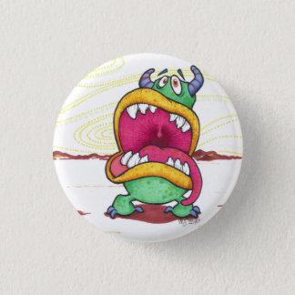 Badge Rond 2,50 Cm Grand bouton de monstre de bouche
