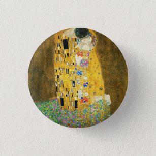 Badge Rond 2,50 Cm Gustav Klimt la peinture vintage de Nouveau d'art