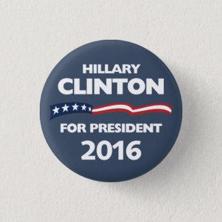 Badge Rond 2,50 Cm Hillary Clinton pour le président 2016