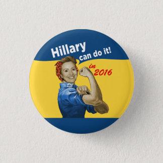 Badge Rond 2,50 Cm Hillary peut le faire 2016