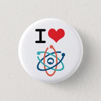 Badge Rond 2,50 Cm I la Science de coeur -
