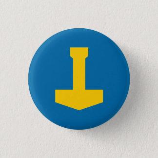 Badge Rond 2,50 Cm Insigne de la Suède - le marteau du Thor